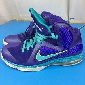 9.5 Nike Lebron  469764-500 Summit Lake Hornets